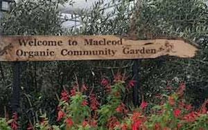 welcome to macleod community garden sign