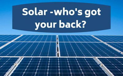 Solar – who's got your back?